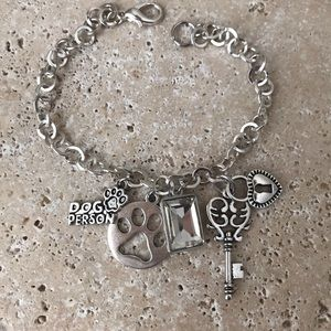 """Jewelry - Hand-Crafted 🐾 """"Dog Person"""" Charm Bracelet"""